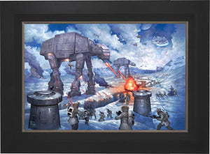 On the ice planet of Hoth™, the Rebel Squadrons battle the Imperial AT-STs™ and massive AT-ATs™- Citibank Frame
