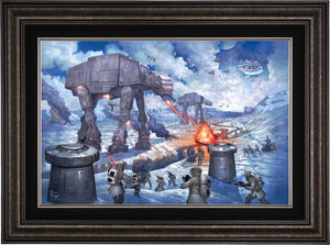 On the ice planet of Hoth™, the Rebel Squadrons battle the Imperial AT-STs™ and massive AT-ATs™- Dark Pewter