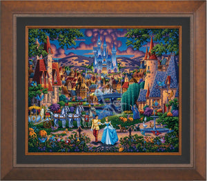 Cinderella's evening of celebration, surrounded by all the details of the story's fairy tale. Aurora Copper Gold Frame