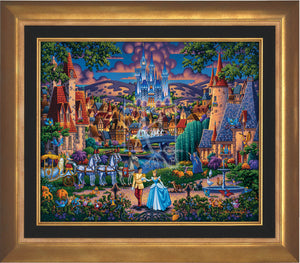 Cinderella's evening of celebration, surrounded by all the details of the story's fairy tale. Aurora Gold Frame