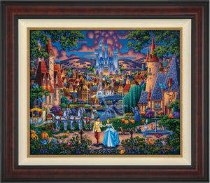 Cinderella's evening of celebration, surrounded by all the details of the story's fairy tale. Burl Frame