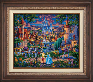 Cinderella's evening of celebration, surrounded by all the details of the story's fairy tale. Dark Walnut Frame