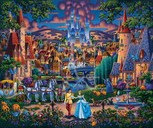 Cinderella's evening of celebration, surrounded by all the details of the story's fairy tale