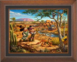 Mickey, Minnie, Pluto Donald, and Goofy explore the land down under - Australia. - Aurora Copper Frame