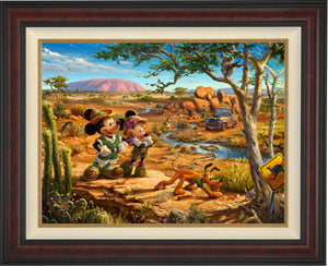 Mickey, Minnie, Pluto Donald, and Goofy explore the land down under - Australia. - Burl Frame