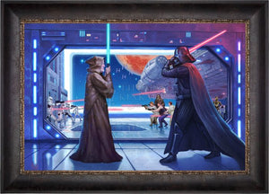 The Lightsaber™ battle between Obi-Wan Kenobi and Darth Vader - Cabernet Frame.