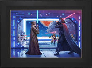The Lightsaber™ battle between Obi-Wan Kenobi and Darth Vader - Citibank Frame.