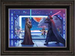 The Lightsaber™ battle between Obi-Wan Kenobi and Darth Vader - Dark Pewter Frame