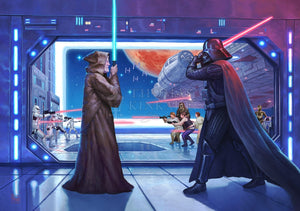 The Lightsaber™ battle between Obi-Wan Kenobi and Darth Vader - Unframed.