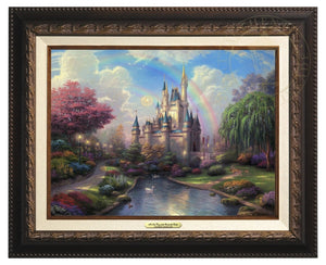 Thom fairy tale vision of Cinderella Castle - Aged Bronze Frame