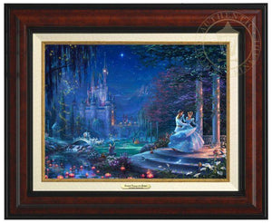 Cinderella Dancing in the Starlight by Thomas Kinkade Studios.  Cinderella's dreams have come true under the starlight Cinderella is dancing with her prince - Burl Frame