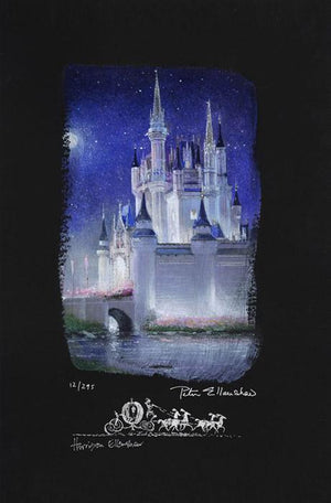 Cinderella Castle - The moonlight creates a magical glow around the castle as midnight approaches