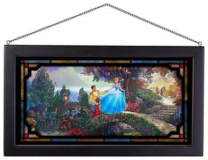 Cinderella Wishes Upon a Dream - Framed Glass Art
