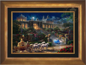 Cinderella, racing down the castle's stairs, as the clock strikes midnight. -  Aurora Copper Frame