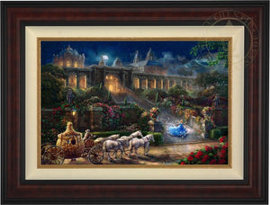 Cinderella, racing down the castle's stairs, as the clock strikes midnight. -  Burl Frame