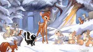 Bambi playing with his forest friends...