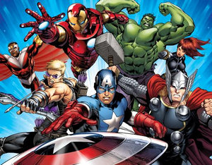 Depicting the famous fighters of the Avengers.