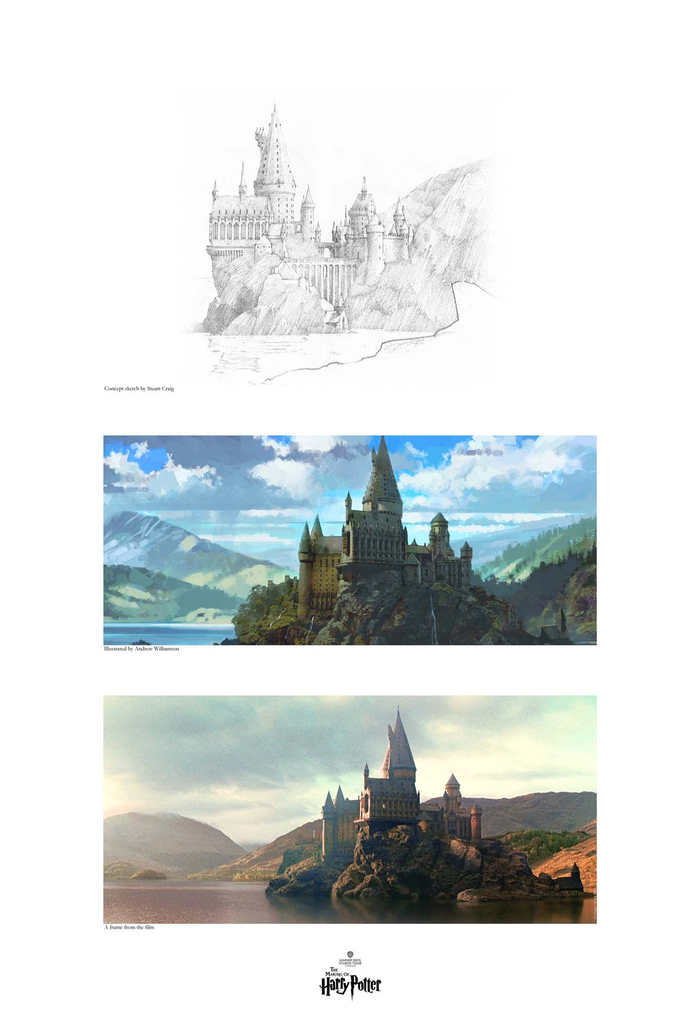 Creating Hogwarts and the Black Lake