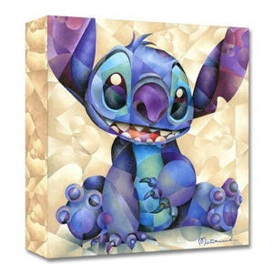 Cute and Fluffy by Tom Matousek.  A portrait of a light purple and blue colored Stitch sitting.