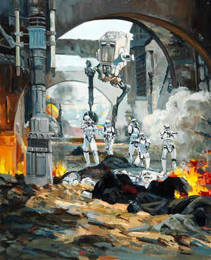 Territorial Battles; Imperial Strom Troopers and the AT-AT Walkers are out on the hunt.