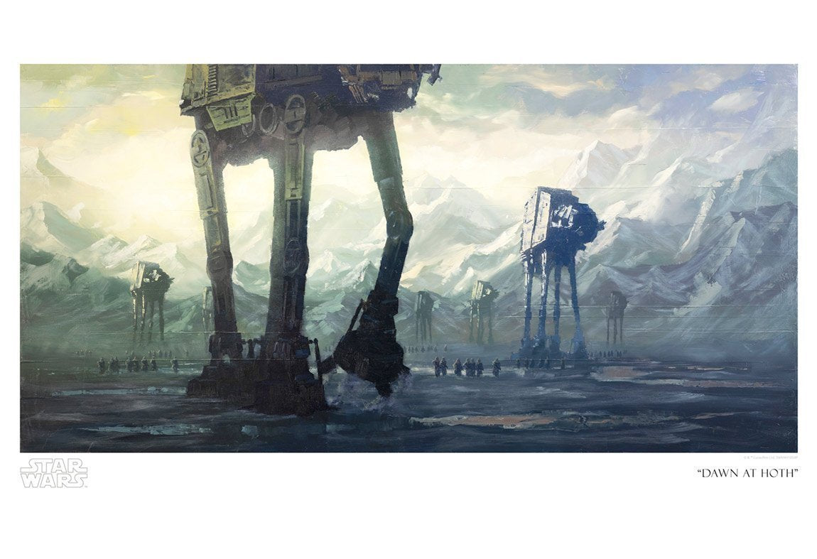 Dawn at Hoth - Star Wars Art By Christopher Clark