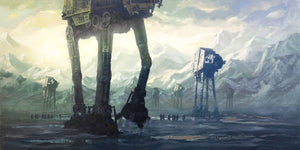 At the Battle of Hoth, massive AT-AT walkers engaged the Alliance.