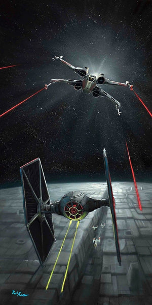 The X-Wing chasing down an Imperial fighter.