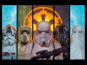 The Empires Forces - Clone, Scout, Storm, Death, and the Snow Troopers