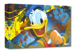 A happy Donald Duck