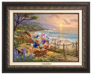 Donald and Daisy - A Duck Day Afternoon - Aged Bronze Frame