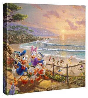Donald and Daisy - A Duck Day Afternoon - Gallery Wrapped Canvas