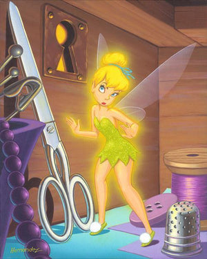 Tinker Bell listening through a key hold