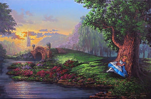 Dreaming of Wonderland by Rodel Gonzalez  Alice dreams of Wonderland as she sleep under a shapy tree by the river bank.