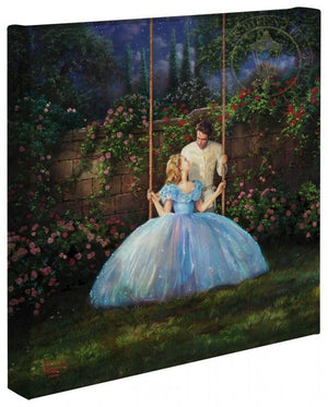 Cinderella and the Prince enjoy this enchanted time together in the secret garden.