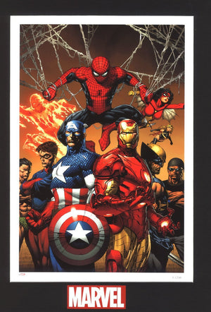"""Enforcer"" Paper- Features: Spider-Man, Captain America, Iron-Man, comes matted."