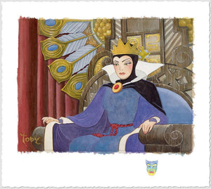 Face of Evil by Toby Bluth  Evil Queen sits on her throne - deluxe