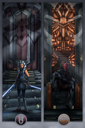 Face Off On Mandalore  - Star Wars Art