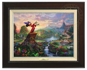 Mickey the sorcerer stands in the center of it, using his magic to orchestrate the sublime dance going on about him - Espresso Frame.