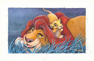 Mufasa and Simba playing around in the grassy meadow...