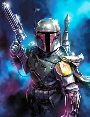 Star Wars: Return of the Jedi inspired artwork featuring Boba Fett
