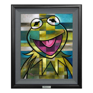 Green is All There is to Be by Tim Rogerson  All smiles...a happy green Kermit the Frog!