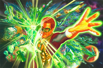 Green Lantern and the Power Ring - DC Comics Art