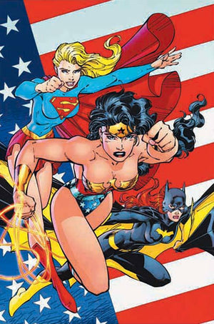"""Heroines of the DC Universe"" Features: Heroines of the DC Universe features Super Girl, Wonder Woman and Bat Girl, three of the most popular heroines ever to appear in comics, have combined forces to combat evil in the DC Universe.  Limited Edition Giclee on  Canvas, Edition Size: 25.  Signed by Jim Lee"