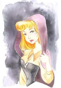 "Aurora's Portrait, inspired by Walt's Disney movie film ""Sleeping Beauty""."