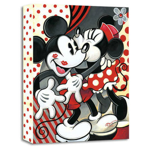 Hugs and Kisses by Tim Rogerson   Minnie giving Mickey hugs and lots of red kisses.