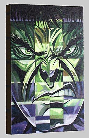 Closeup portrait of the green Hulk.