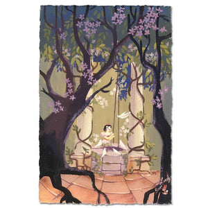 I'm Wishing by Lorelay Bove.  Snow White standing by the well in the woody garden, daydreaming of her prince.