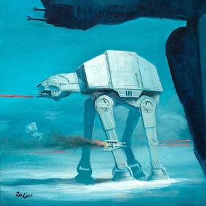 The AT-AT''s are the Imperial ground force standing over 65' tall with blast-impervious armor plating.