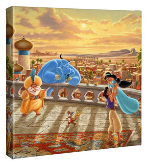 Jasmine Dancing in the Desert Sunset - Gallery Wrapped Canvas