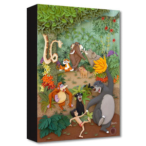 Mowgli and his jungle friends gather for a festive jamboree filled with dancing and playing around.